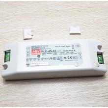 Original MEANWELL 30 W para 100 W PLC série chave de fenda com UL CE PSE 45 W versão PLC-45-36