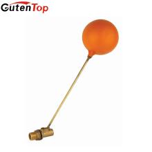 GutenTop alta calidad y válvula de bola de flotador de cobre amarillo del tanque de agua caliente de la venta del vástago de cobre con la bola pastic