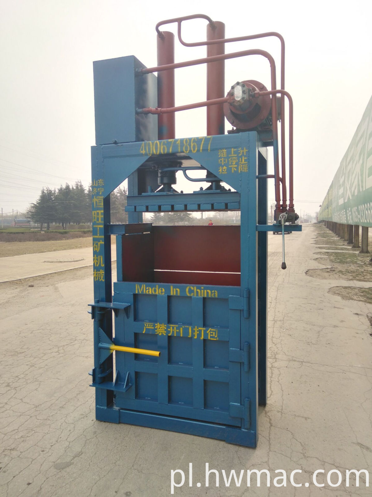 used clothes baler machine