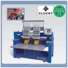 Economical high speed 2 heads cap computerized embroidery machine price