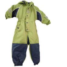 Preenchimento com capuz costura gravou Coverall capa de chuva para as crianças