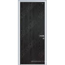 Porte en bois de grain de bois, dessin en bois de porte de porte, portes en bois extérieures de chêne