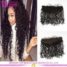 13*4 Brazilian Unprocessed Hair Pieces Closures Full Lace Frontal