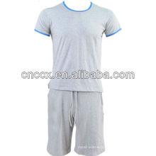 PK17ST213 100% coton hommes à manches courtes en gros sweat à capuche crewneck