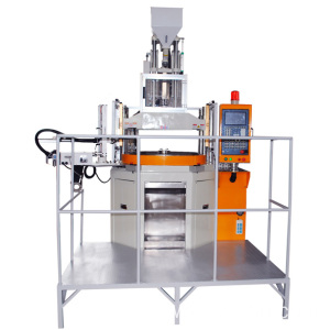 Vertical injection machine for fasten parts