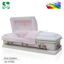 18 gauge White finish steel casket