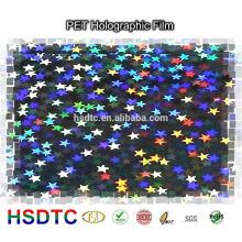 Hochglanz-holographischer PET-Film-Laser-PET-Film