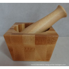 Manual Wood Martar Mashed Grinder