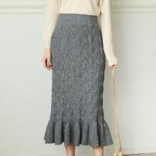 New Style Ladies Fashion Straight Knitted Skirt