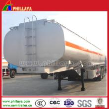27 reboque do caminhão de tanque do armazenamento do combustível dos eixos de 2 Cbm semi reboque