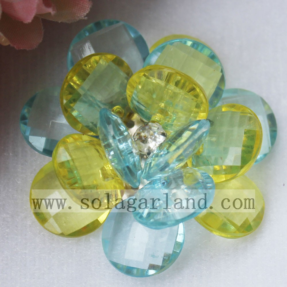 Two Tone Artificial Beading Flowers