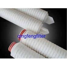 Cartouche filtrante plissée par PVDF de 10inch pour le traitement de l'eau