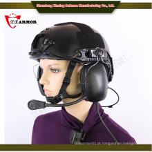 XX capacete anti bala com sistema de comunicação