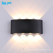 Modern Outdoor Aluminum Black Led 6W/12W/18W  Waterproof IP65 LED Wall Lamp Sconces