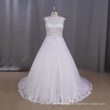 AK003S Popular latest customed lace empire bridal wedding dress