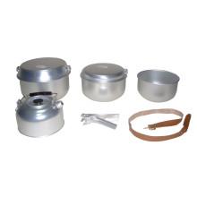Equipo de cocina de camping de aluminio (CL2C-DT2116-6)