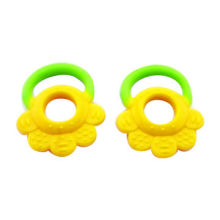 Baby teether, made of FDA grade BPA free soft silicone, multi-color and shape, OEM factory
