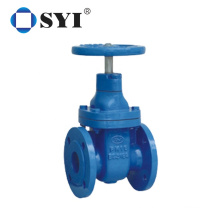Automatic manual slide cast steel resilient seated soft seal flanged gate valve