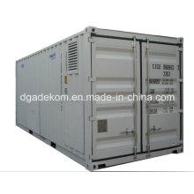 Compresor de aire de tornillo rotatorio con sistema de contenedor con secador de aire (KCCASS-11 * 2)