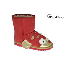 Kid's Cow Suede Low Boot Goldfish