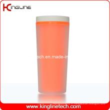 Couvercle en plastique à double couche en plastique de 400 ml (KL-5009)