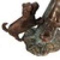 statue de boîte aux lettres garçon et colombe en bronze