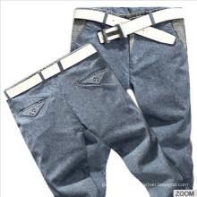 Novo Elegante 100% Algodão Homens Calças Casual Slim Fit Pants