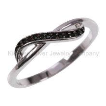 925 silberner Schmucksache-eingelegter Schmucksache-überzogener Finger-Ring (KR3100B)