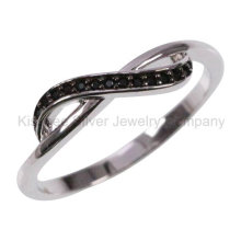 925 Silver Jewellery Inlaid Jewelry Plated Finger Ring (KR3100B)