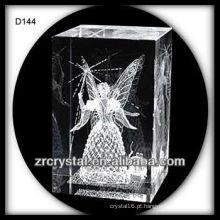 gravação a laser cubo de cristal cristal 3d cristal