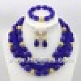 ABJ027 Royal blue african jewelry sets 18k on online store- www.hibeads.com