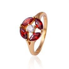 11722 Venta caliente buena Qualitty 18k anillo de joyería de moda de cristal dorado para los mejores regalos de las mujeres