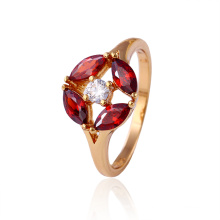 11722 Hot Selling Good Qualitty 18k Gold-Plated Crystal Fashion Jewelry Ring for Women′s Best Gifts