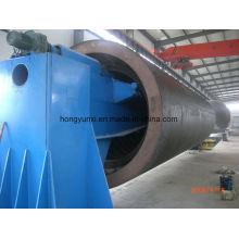 Máquina de enrolamento horizontal para fabricação de tanques ou vasos FRP
