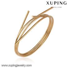 51623 xuping al por mayor 18k oro plateó brazaletes de la manera de las mujeres