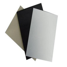 Feuille en plastique noire industrielle blanche de pp