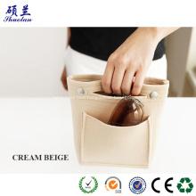 Portable felt clutch bag