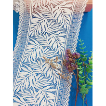 New design stretch leaves lace trims lingerie