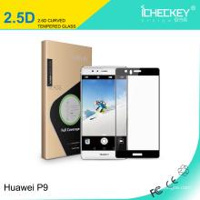 Protetor de tela de vidro temperado Shenzhen Icheckey para Huawei P9 2.5 D cobertura completa