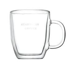 Taza de café de Starbucks de vidrio de 500ml