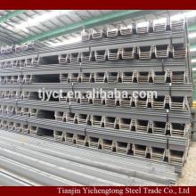 Construction utilisée feuille de tôle d'acier de type U laminé à chaud 400x100x10.5mm prix par tonne