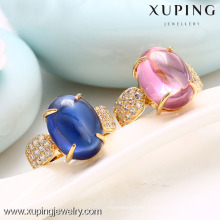 12863-Xuping Brass Ring, Single Stone Gold Ring Jewelry Engagement
