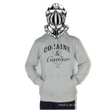 Grau Letter Langarm Sweatdhirt Hip Hop Casual Shirt