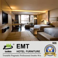 Conjunto moderno de móveis de quarto de madeira de 5 estrelas (EMT-HTB04)