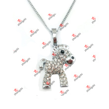 Custom Alloy Crystal Horse Animal Charms Pendant Necklace (CHA60128)