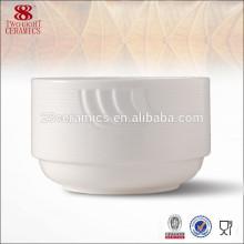 Tazón de sopa de cerámica del tazón de fuente creme brulee del tazón de fuente plegable