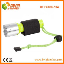 Factory Supply Super Bright ABS Material Rechargeable 10w Diving Powerful cree led Flashlight with Zoom Focus Function
