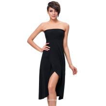Vestido / falda sin tirantes KK000292-1 del color sólido de las mujeres de Kate Kasin