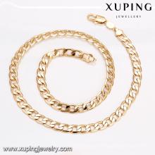 43671 dubai bijoux en or, nouvelle conception de la chaîne en or pour les hommes plaqué or collier de bijoux