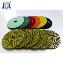 Hot sale 4 inch wet type diamond polishing pad for angle grinder